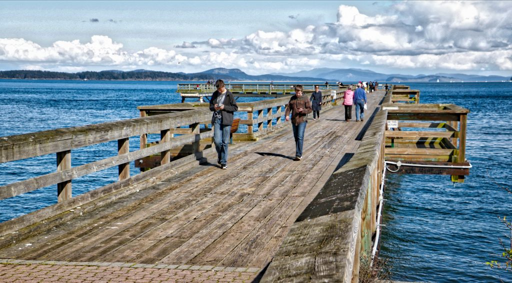 Fishing Pier at Sidney, BC Visitor in Victoria