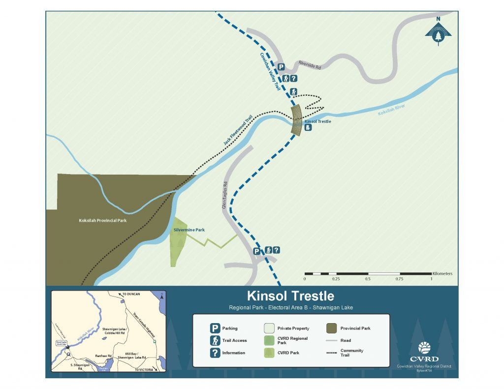 Kinsol Trestle map