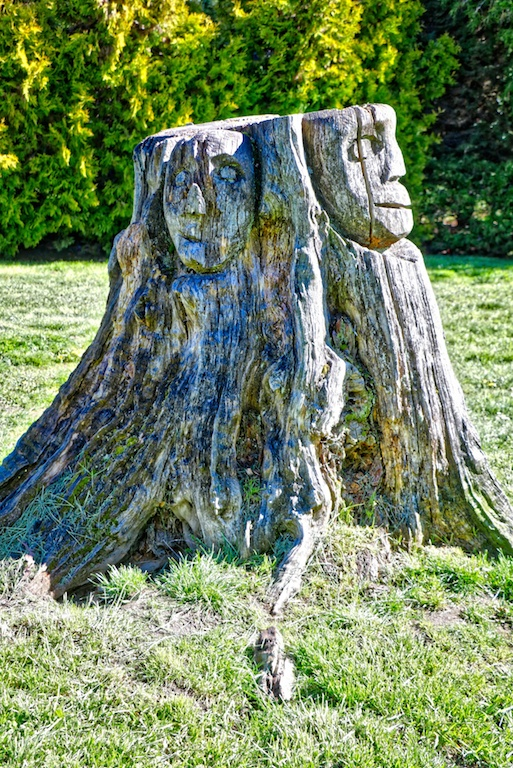 Whimsical Carving in Dominion Brook Park, Victoria, BC, Visitor in Victoria, parks in Victoria