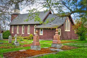 Holy Trinity Church at mile zero of Flight Path, Victoria Int'l Airport, Victoria BC, Visitor in Victoria