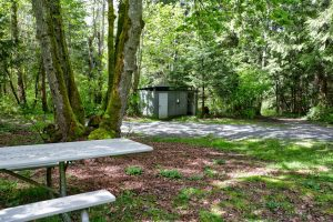 Picnic Area and restrooms at Coles Bay Regional Park, Victoria, Bc, Visitor in Victoria, Parks in Victoria