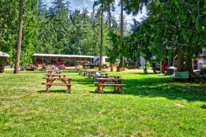 Picnic Area at Heritage Acres, Saanich, BC Visitor in Victoria