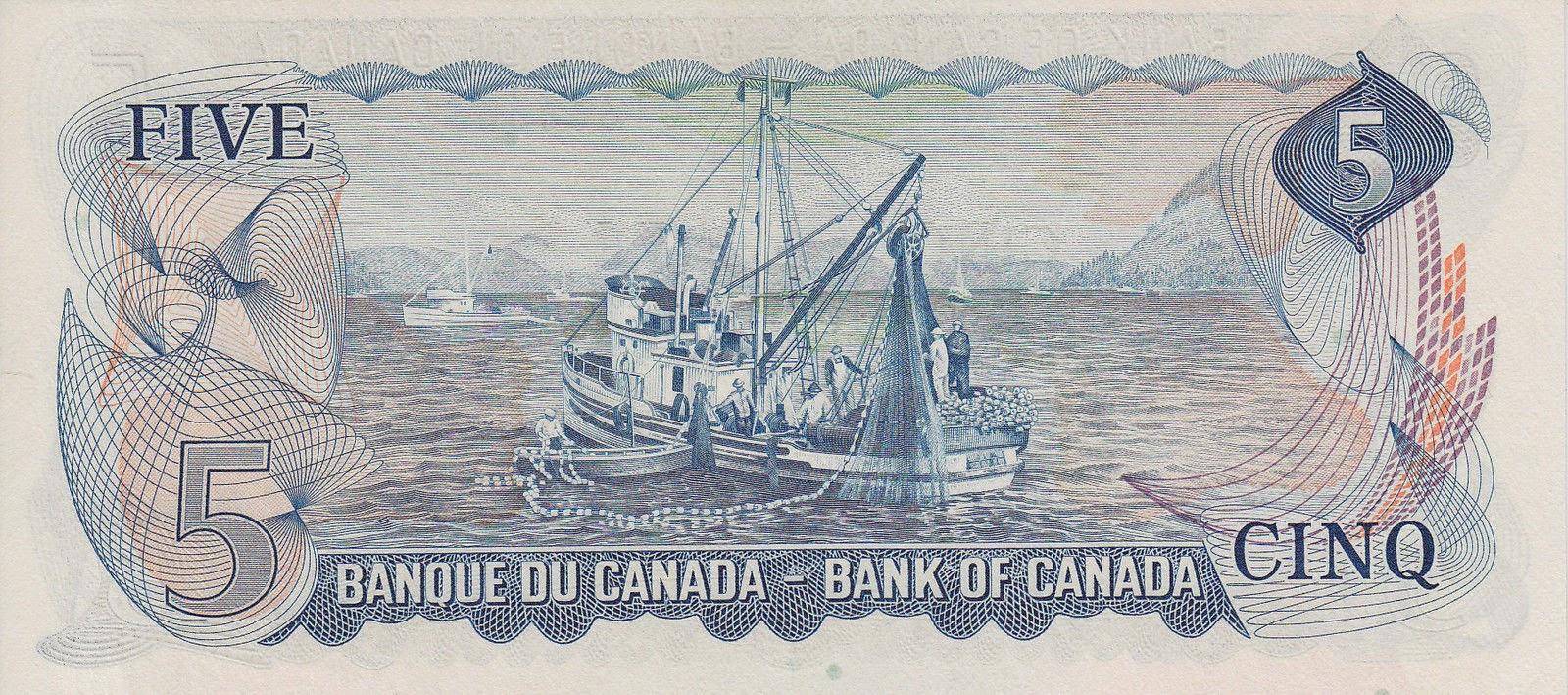 Canadian 5 dollar bill