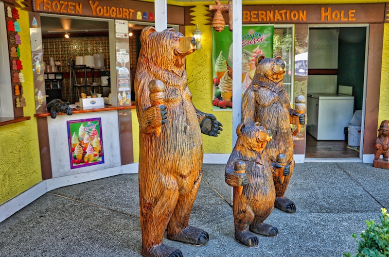 Ice Cream Bears in Chemainus, BC  Visitor in Victoria