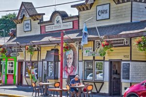 Main Street in Chemainus, BC Visitor in Victoria
