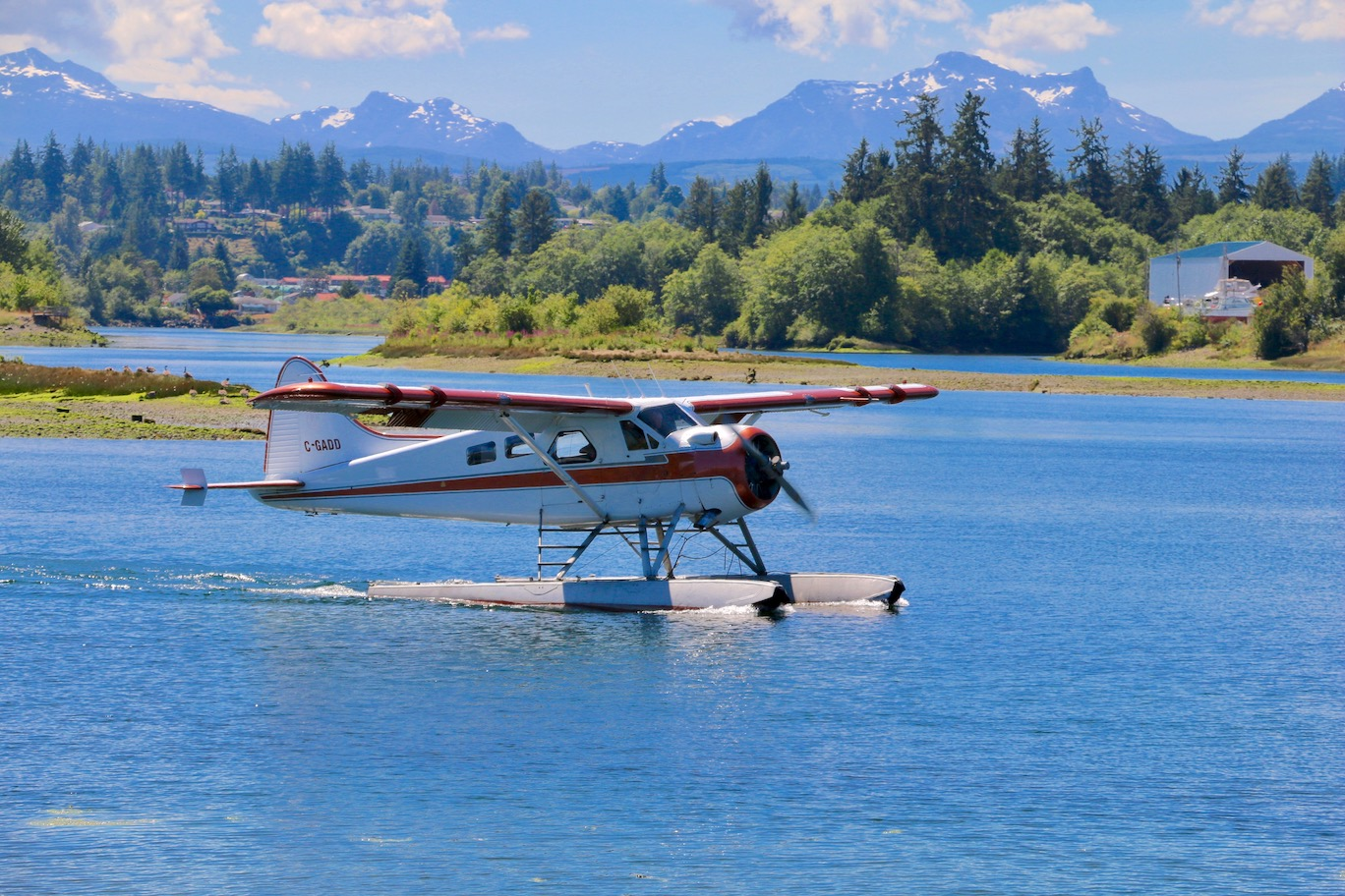 """The very busy float plane terminal is located at """"The Spit"""" by Dick Murphy Park"""