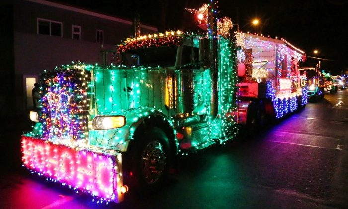 Lighted Truck Convoy, Victoria, BC