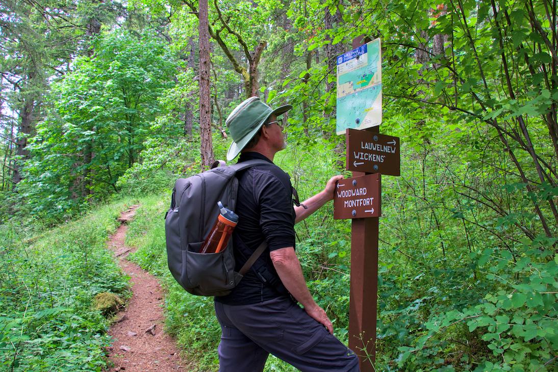 Trail Sign John Dean Provincial Park