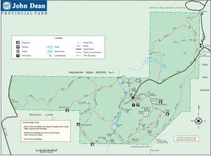 John Dean Provincial Park Trail Map