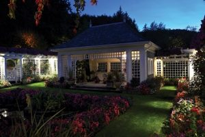 Night illumination at Butchart Gardens, Victoria, BC