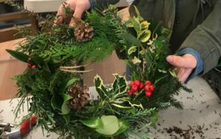 Wreath Making at HCP, Victoria, BC