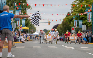 Bed Races On Beacon, Sidney, BC