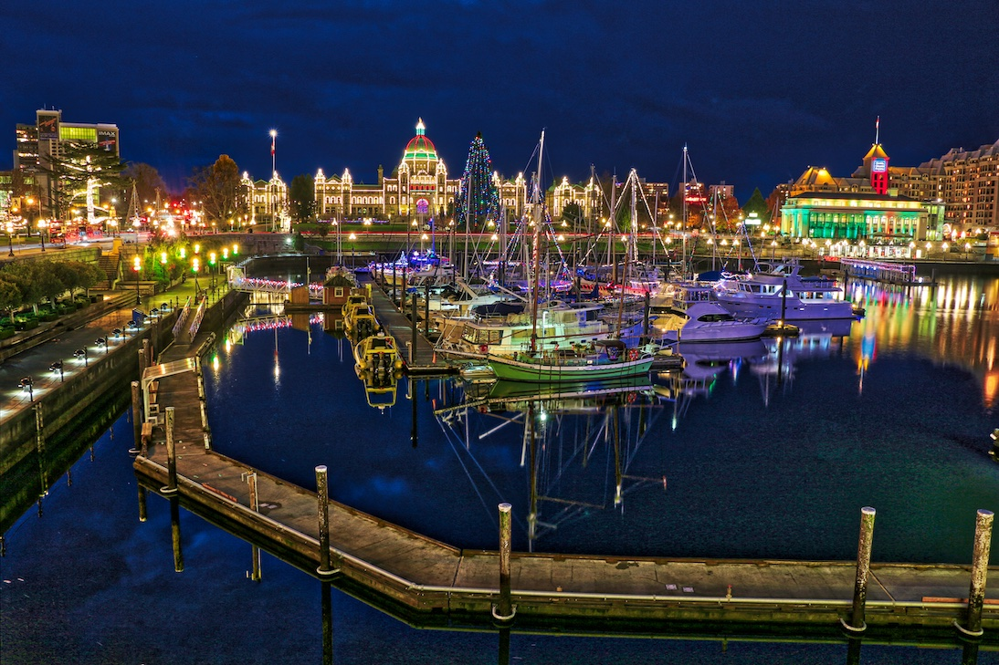 Victoria's Inner Harbour at Christmas