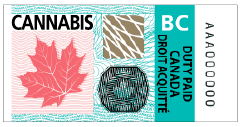 BC Cannabis Excise Stamp