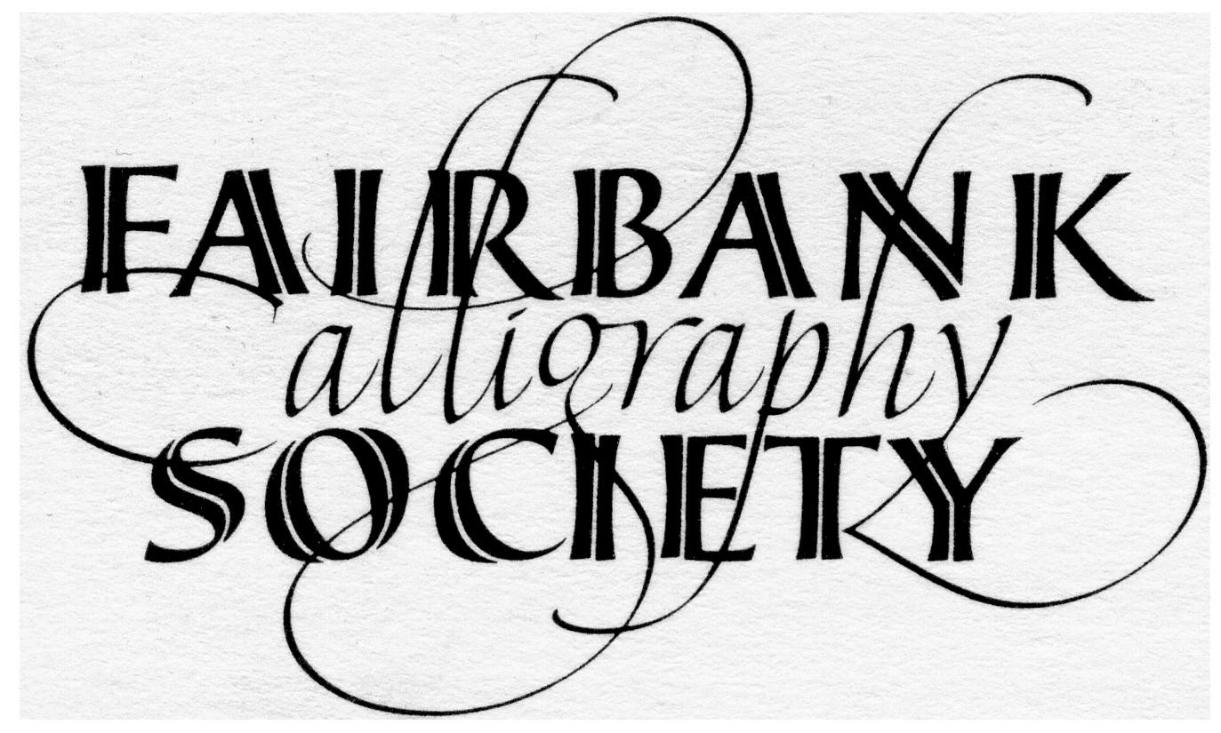 Fairbank Calligraphy